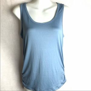 NWT Doublju Stretch Racerback RuchedTank Top LARGE